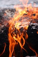 огонь на горе